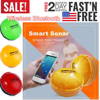 Portable Wireless Fish Detection Sonar Bluetooth Finder f/ iOS Android Detection