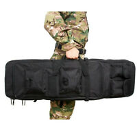 Double Carbine Rifle Soft Case Gun Bag Adjustable Backpack Utility 4 Pouches New