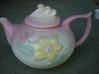Hull Art Pottery MAGNOLIA Pink Matte TEA POT 23 6 1/2