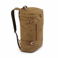 Fishpond River Bank Fly Fishing Waxed Canvas Travel Backpack - Earth