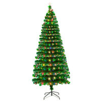 7.5 Ft Artificial Christmas Tree With 260 LED Lights Decor Home Xmas Gift