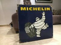 Michelin Tires Vintage Porcelain Sign Gas, Oil ,Ford, Goodyear, Firestone