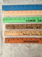 Vintage Yardstick Election, Bank and Gas Company Advertising - Great Colors