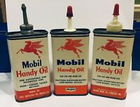 3 Different version Including Lead Spout Socony Mobil Handy Oil Motor Tin Can