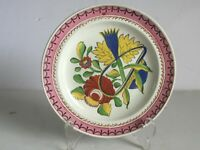 Scarce c1820 Gaudy Dutch KINGS ROSE Oyster Plate Soft Paste Pearlware c1820