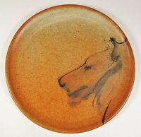 Vintage JANET BROME Limeton Virginia Studio Art Pottery Lion Plate