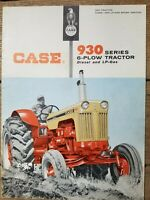 1960 J. I. Case 930 Series 6-Plow Tractor Diesel and LP Gas Catalog Brochure