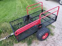 TX158 NEW YUTRAX OFF ROAD ATV Trails Yard Wood Hauler Utility Tilt Trailer Tow