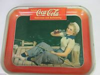 AUTHENTIC COKE COCA COLA 1940 ADVERTISING SERVING TRAY 321 K