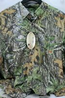 Under Armour Men Tech Mossy Oak Camo Hunting Shirt Size L Long Sleeves Button-Up