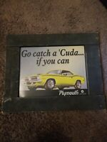Vintage Chrysler Plymouth Car Advertising Cardboard Sign 22x18