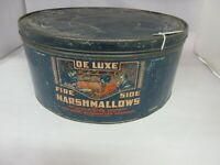 VINTAGE ADVERTISING FIRE SIDE MARSHMALLOWS BEAUTIFUL GRAPHICS 10 LB SZ  933-X