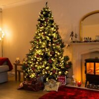 Artificial Christmas Tree with 750 LED Lights - 7.5 Ft