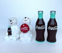 Coca Cola Salt and Pepper Shakers 2 Pair