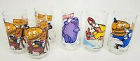 Set of 6 McDonaldland 1977 Action Series Collectible Glasses McCheese Grimace