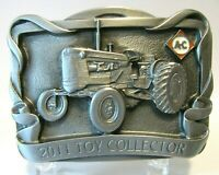 2011 Allis Chalmers D14 Tractor & AC Logo Toy Collector Pewter Belt Buckle 5th