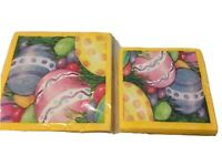 Party Creations Easter Napkins 20 Dinner and 20 Beverage #x27;Watercolor Eggs'