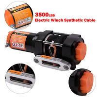 3500LBS Electric Winch Synthetic Rope ATV Kits for 4WD Offroad Wireless Remote