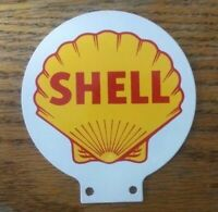 Shell  Porcelain Coated Double Sided Lubester Sign