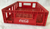 Red Coke Coca Cola Soda 24 Bottle Carrier Plastic Tray Crate Stackable 12