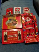 Coca Cola Collectible Playing Cards Lot New unused Coke Tins Christmas Nostalgia