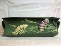 Beautiful Roseville Green Freesia Handled Console Bowl Window Box Planter, Exc.
