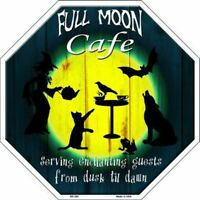 Full Moon Cafe Witch Halloween Humor Metal Sign 12