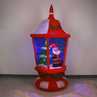 6 Foot Tall Lighted Christmas Inflatable Lantern w/ Santa Tree LED Yards Outdoor