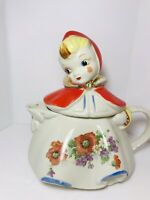 Vintage Hull Little Red Riding Hood Teapot Marked Pat Des No.135889  USA
