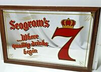 Seagram's 7 Bar Mirror Sign Authentic Vintage Advertising Bar Pub Mancave 21x18