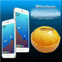 118ft Portable Wireless BT Fish Finder Sonar Detection Echo Alarm Sensor Depth