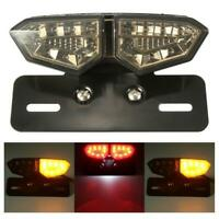 Motorcycle Accessories LED Brake Tail Turn Signal License Plate Integrated Light