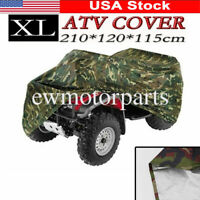 XL Camouflage&Silver Waterproof ATV Cover For Polaris Sportsman 400 500 550 700