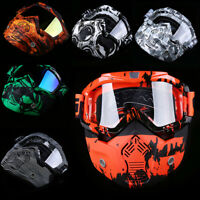 Motorcycle Goggles Mask Fit Over Glasses Vented Dust Wind UV Sand2 Retro ATV MX