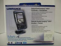 Lowrance Mark 4 HDI Fishfinder + Chartplotter with Broadband Transducer
