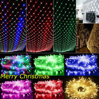 Outdoor LED String Net Fairy Lights Curtain Christmas Tree Party House Decor USA