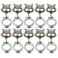 10pcs Metal Plating Musical Sheet Clips Clarinet Clamp On Holder Lyres