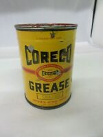 VINTAGE COLLECTIBLE  ADVERTISING CORECO GREASE OIL GAS TIN CAN   M-83