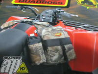 atv gas tank saddle bags w/removable drink holder real tree camo