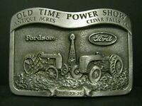 FORD Fordson Tractor & Logo Pewter Belt Buckle 1990 Antique Acre Old Steam Show