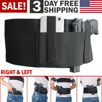 Tactical Belly Band Holster Concealed Carry Hand Gun Hunting Pistol Waist Belt