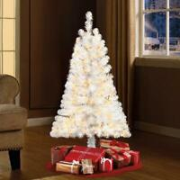 Pre-Lit 4 Indiana Spruce White Artificial Christmas Tree Clear-Light Home Decor