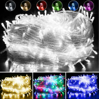 10-500 LED Outdoor Fairy String Lights Christmas Tree Party Holiday Home Decor