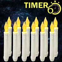 Burning Sister Window Candles with Timers,Led Battery Operated Assorted Sizes