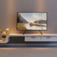 Premium Universal Table Top TV Stand for 27 55quot; LCD TVs 88lbs for Vizio LG RCA $25.95