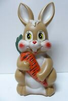 VINTAGE ALLENS MELBOURNE RABBIT LOLLY TOFFEE STATUE EASTER BUNNY TIN MONEY BOX
