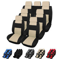 Auto Seat Covers for Car Truck SUV Van Front Rear Full Set Universal Compatible