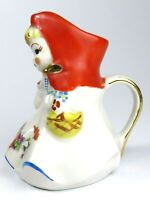 VTG HULL Pottery Little Red Riding Hood Water Pitcher Tall 8