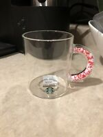 2020 Starbucks Confetti Hearts Handle Glass Mug Valentines Cup New SHIPS NOW