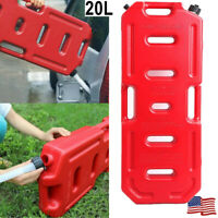 20L/5gal Fuel Pack Jerry Can Gas Container for Offroad ATV SUV Jeep+Tube No Lock